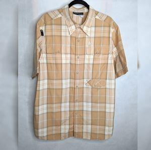 Men's Plaid Snap Shirt XL Rocawear Pockets